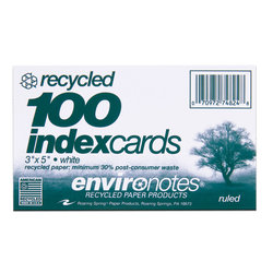 Index cards 3x5 White ruled