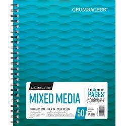 Mixed Media Pad GRUMBACHER 9X12 90LB, 50 sheets, side spiral