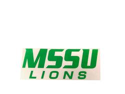 MSSU Lions Chrome Decal