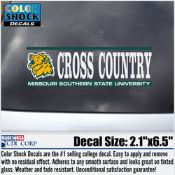 Missouri Southern Cross Country Decal