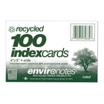 "Index Cards 4 x 6"" White Ruled"