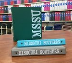 "Binder 1"" SAMSILL Imprinted MSSU Green, Gray, Blue Coconut"