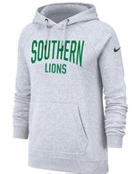 Southern Lions Ladies White Heather Hoodie