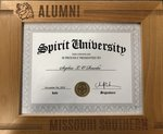 "Diploma Frame SPIRIT Wood Engraved ""L.hd.Alumni/M.S."""