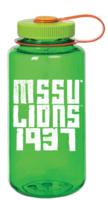 "Water Bottle NALGENE Lime 32oz Melon Ball Tritan Widemouth ""MSSU/L.1937"""