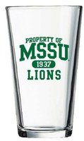 Property of MSSU Lions Pint Glass
